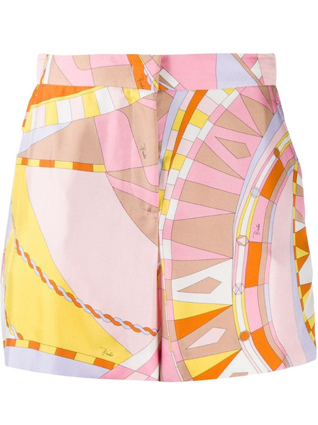 Emilio Pucci Wally-print shorts in pink
