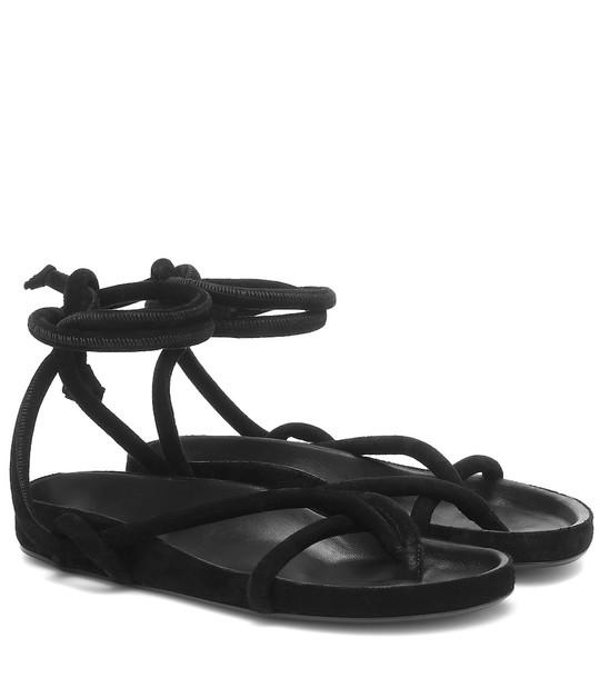 Isabel Marant Lastro suede sandals in black
