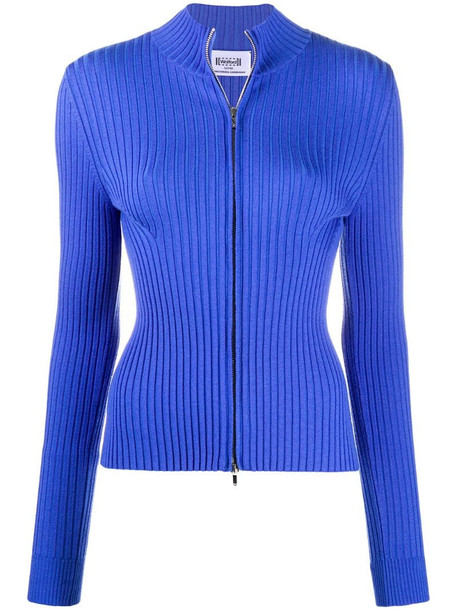 Wolford Concordia ribbed knit cardigan in blue