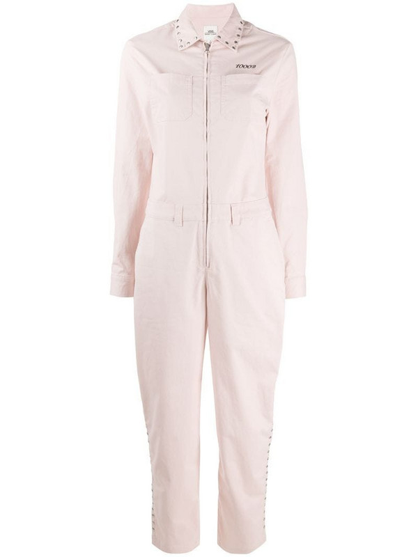 Vans studded zipped jumpsuit in pink