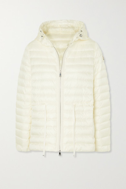 Moncler - Raie Hooded Quilted Shell Down Jacket - Ivory