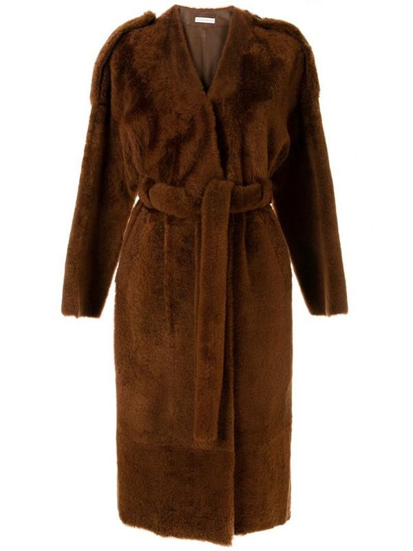 Inès & Maréchal Genie belted coat in brown