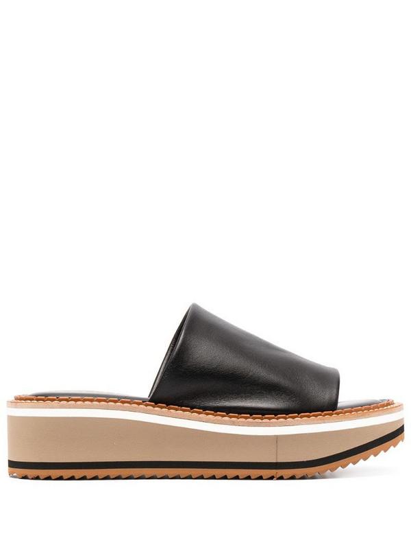 Clergerie slip-on platform sandals in black