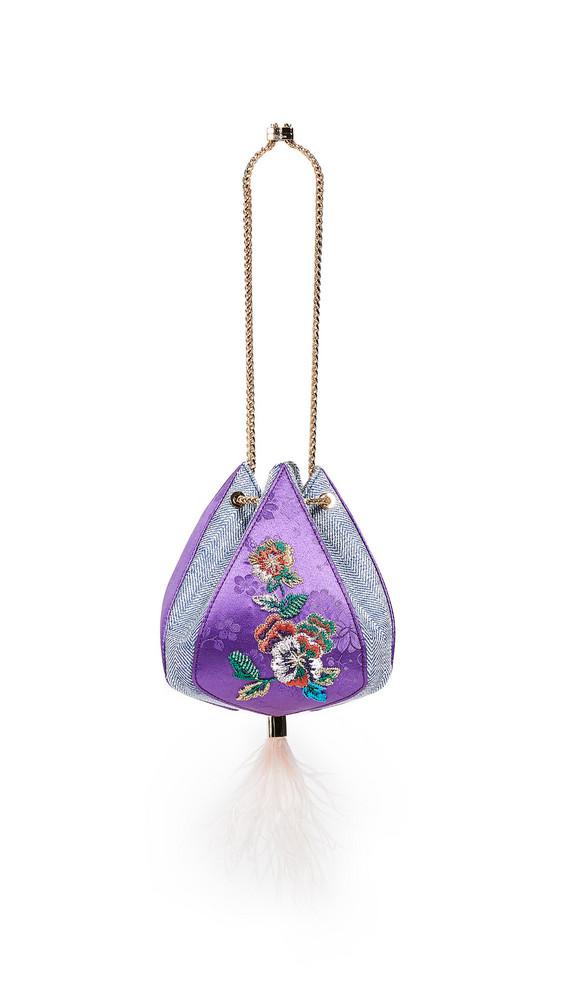 THE VOLON Cindy Flower Bag in purple