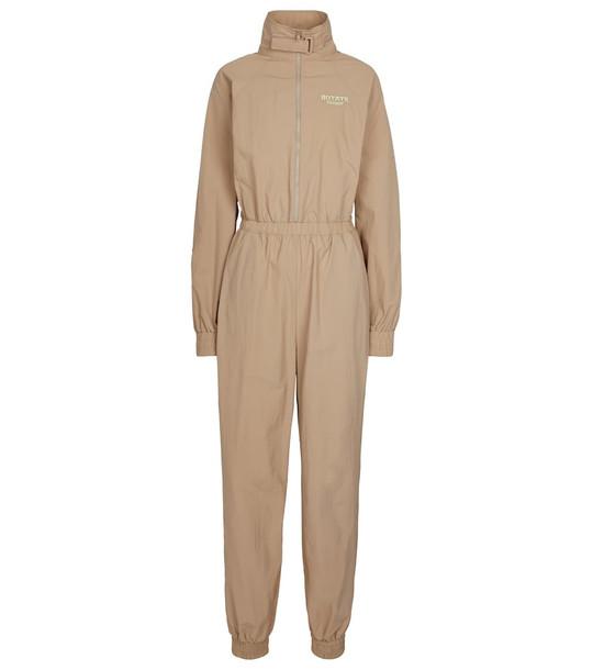 ROTATE BIRGER CHRISTENSEN Cliera recycled nylon jumpsuit in beige