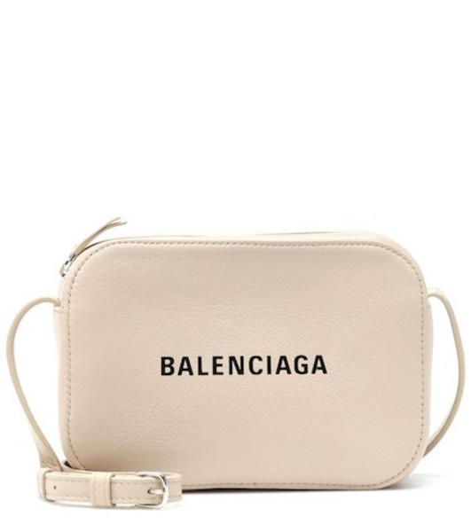 Balenciaga Everyday XS leather crossbody bag in beige