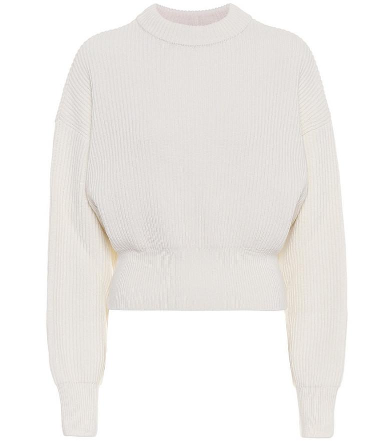 Cordova Megève merino wool sweater in white