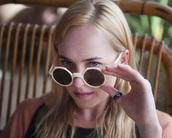 sunglasses,white,round sunglasses,dakota johnson,summer,retro,retro sunglasses,white sunglasses