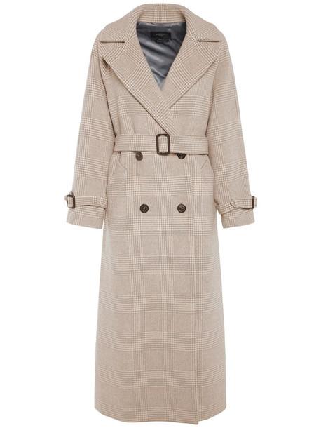WEEKEND MAX MARA Double Breast Wool Coat W/belt in beige