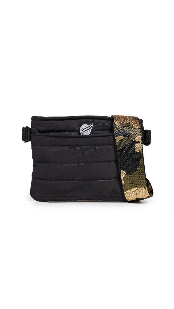 Think Royln Convertible Belt Crossbody Bag in black / metallic