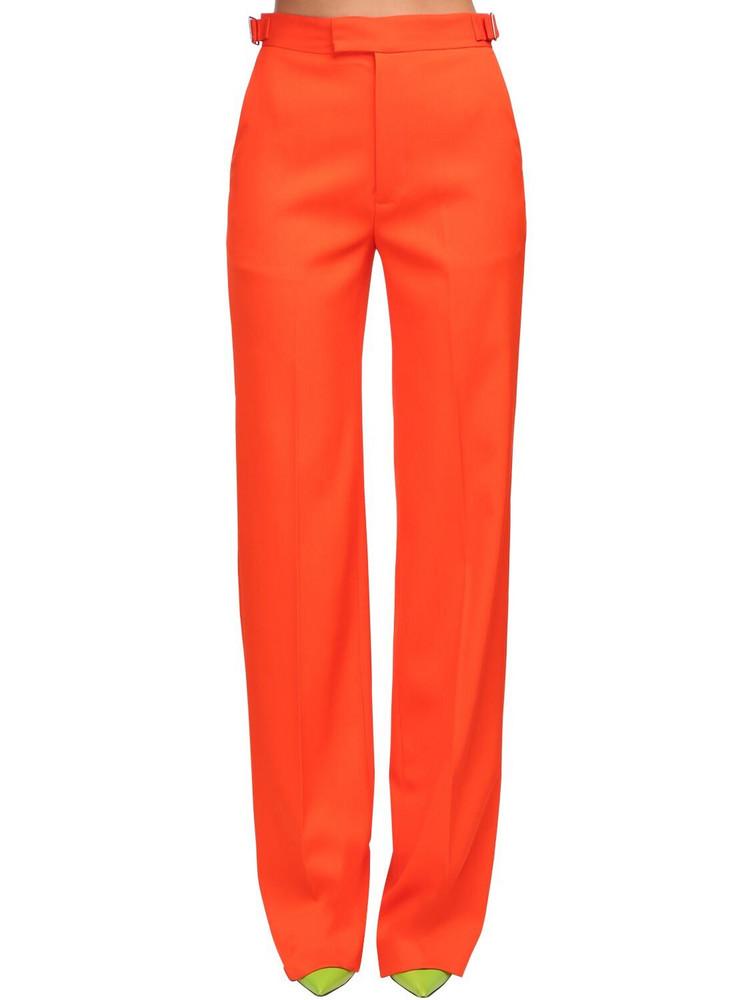 THE ATTICO High Waist Wool Gabardine Pants in orange