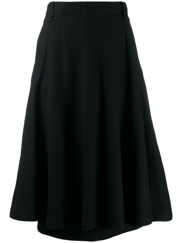 Versace Pre-Owned 1970's flared skirt in black