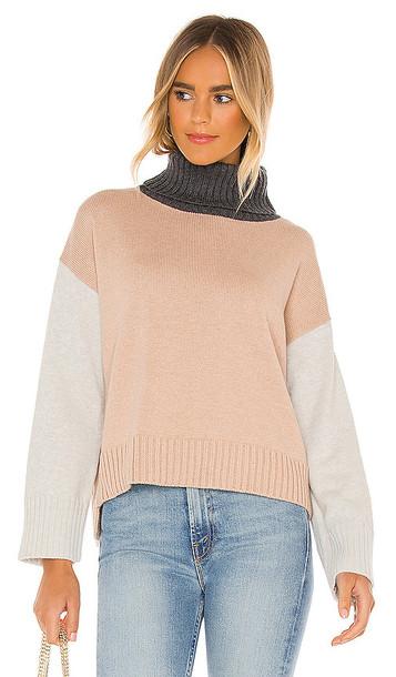 Michael Stars Daria Turtleneck Sweater in Tan in taupe