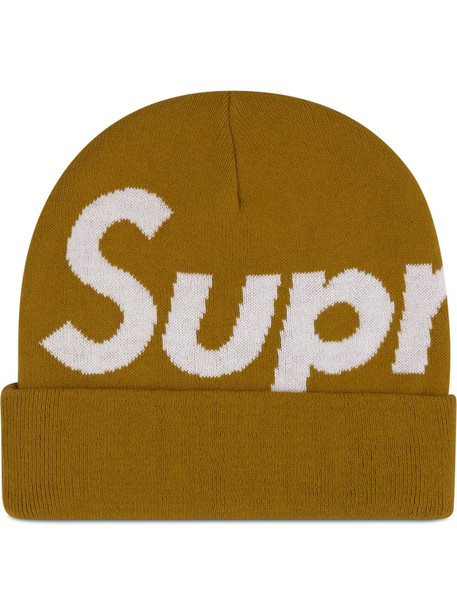 Supreme big logo beanie - Yellow