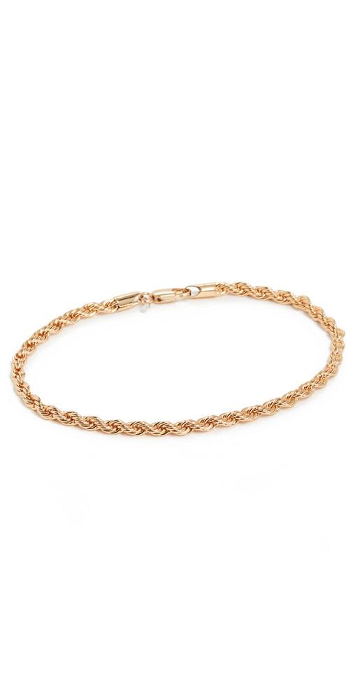 Loeffler Randall Chain Link Anklet in gold