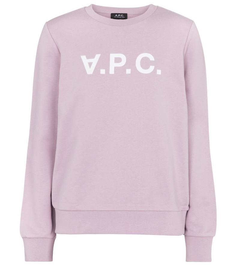 A.P.C. Viva cotton jersey sweatshirt in purple