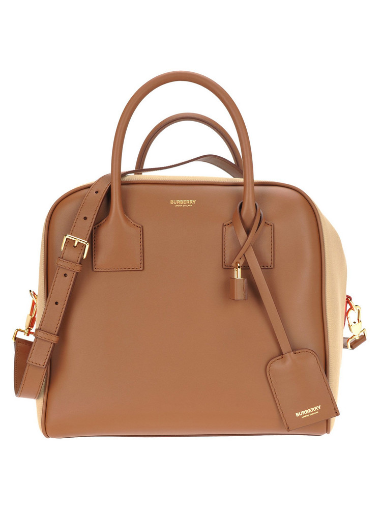 Burberry London Burberry Bowling Bag in brown / red