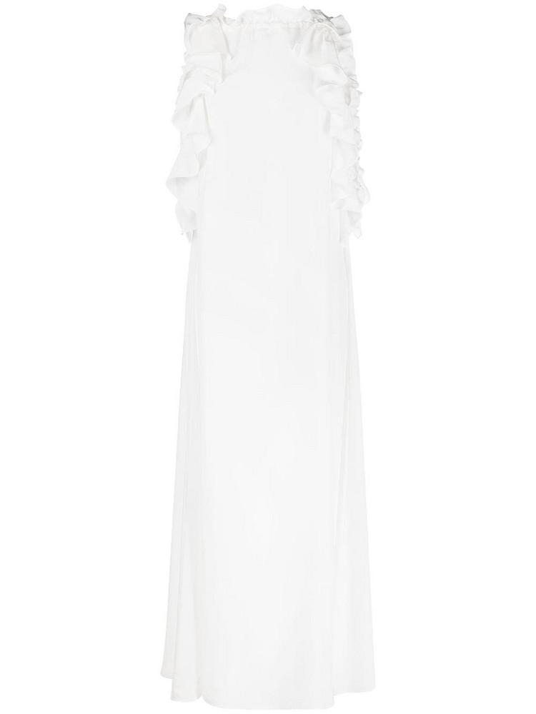 P.A.R.O.S.H. P.A.R.O.S.H. ruffle-detail dress - White