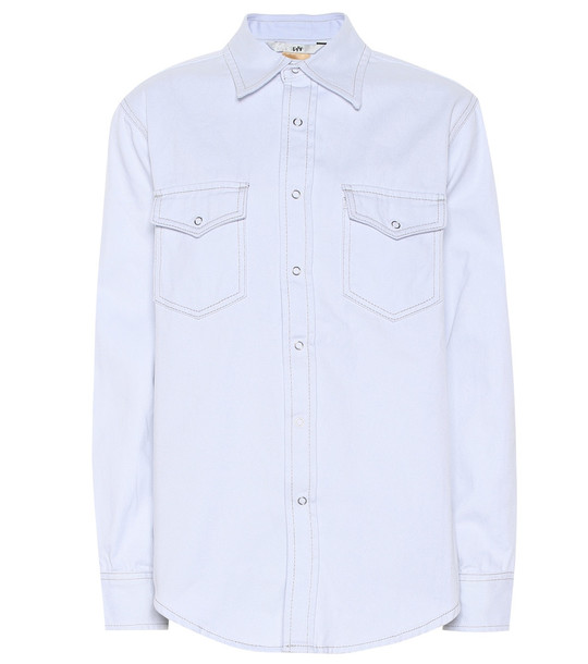 Eytys Falcon twill-cotton shirt in blue