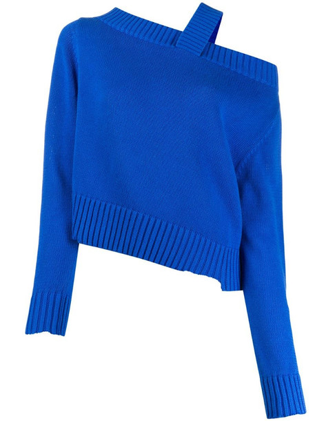 RtA asymmetric one shoulder jumper in blue
