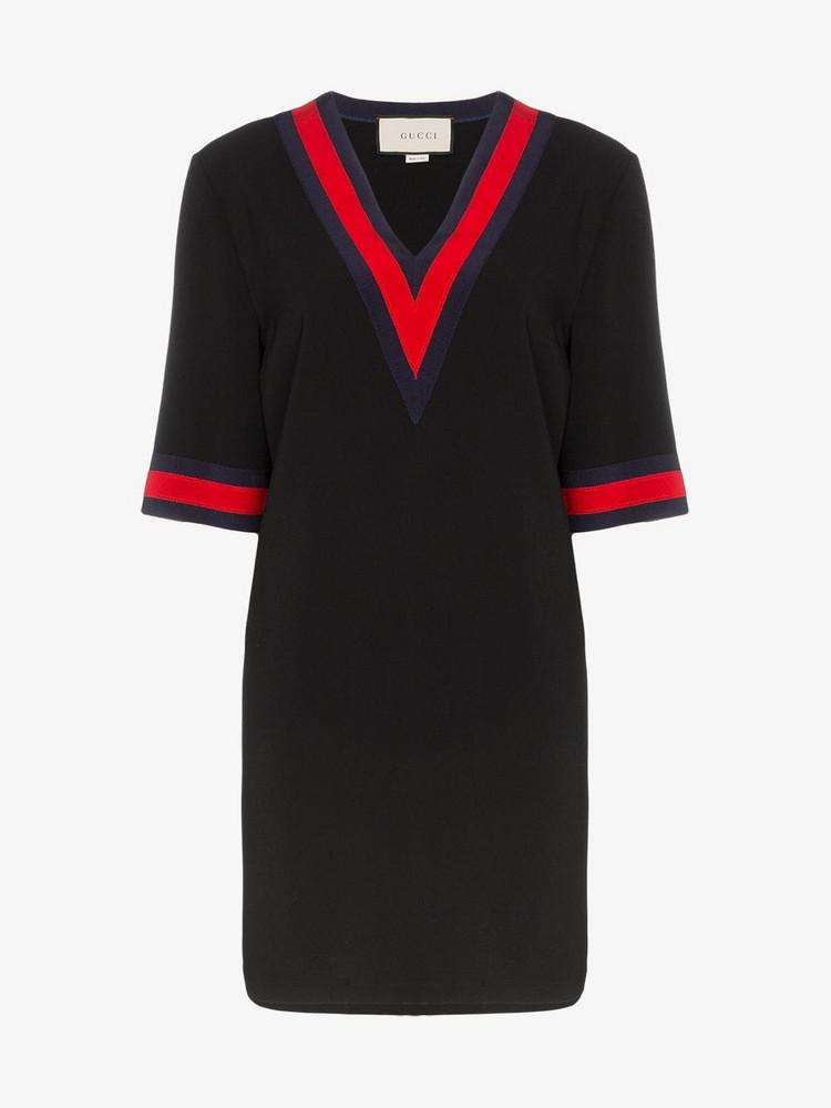 Gucci v-neck dress in black