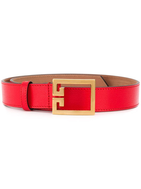 Givenchy Double G belt in red