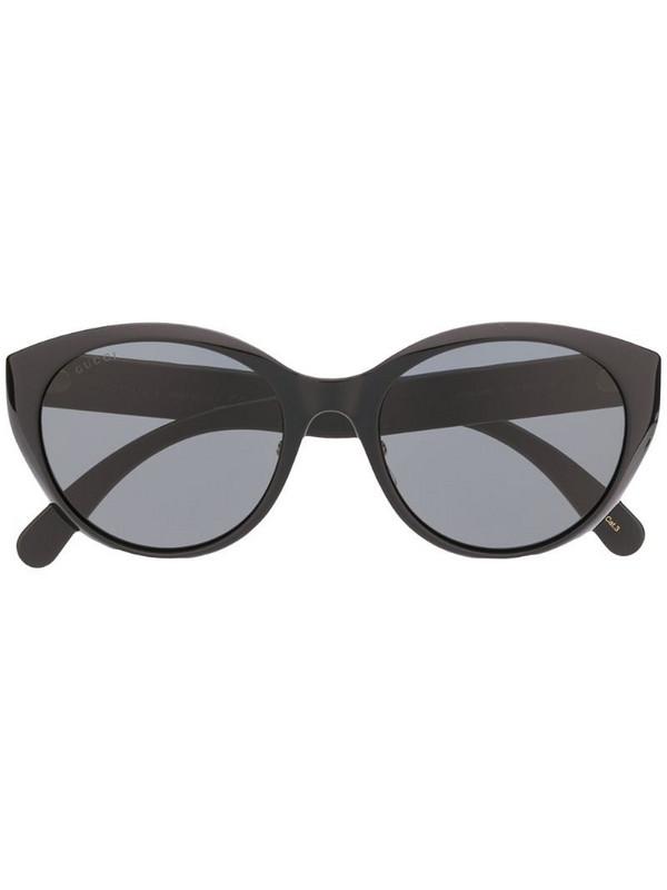 Gucci Eyewear chevron-detail sunglasses in black