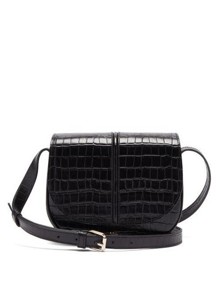 A.P.C. A.p.c. - Betty Crocodile Effect Leather Bag - Womens - Black