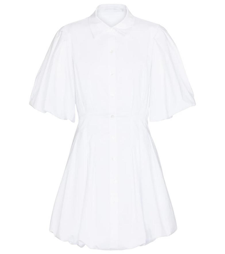 Jonathan Simkhai Cotton-blend poplin minidress in white