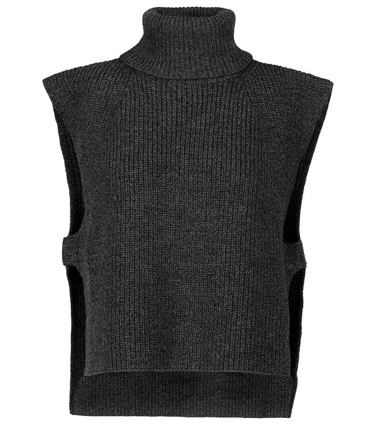 Isabel Marant, Étoile Megan wool knit sweater vest in grey