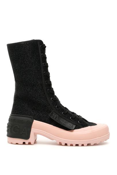 Marco de Vincenzo Midi Superga Sneakers in black / rose