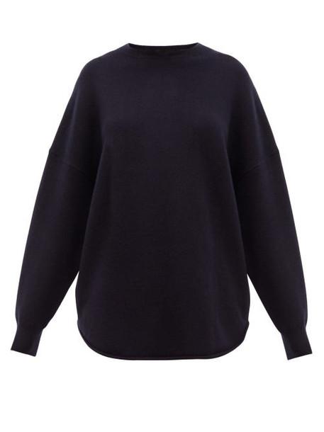 Extreme Cashmere - No.53 Crew Hop Stretch Cashmere Sweater - Womens - Navy