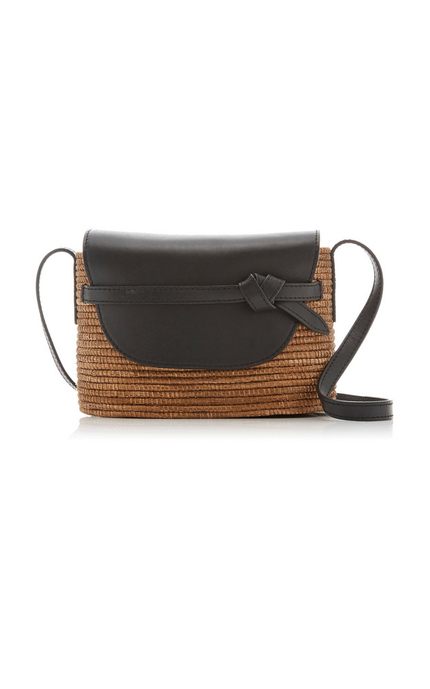 Cesta Collective Sisal and Leather Crossbody Bag in brown