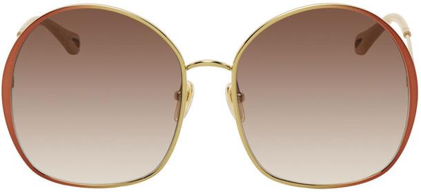 Chloé Chloé Gold & Brown Irene Sunglasses