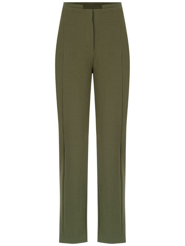 Mara Mac straight fit trousers in green