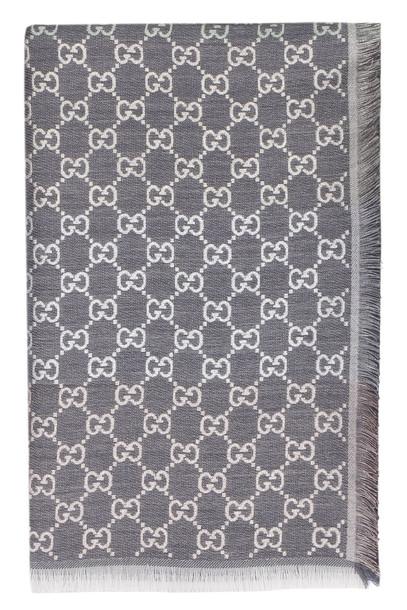 Gucci Gg Jacquard Scarf in grey