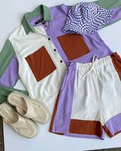 shorts,hat,top,shoes