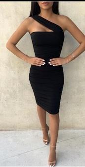 dress,bkack dress,open back