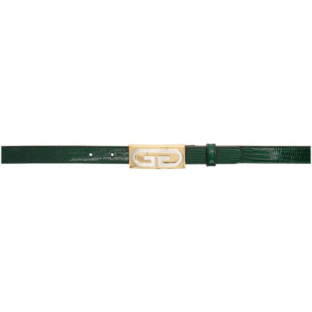 Gucci Green Lizard Vintage Hardware Belt