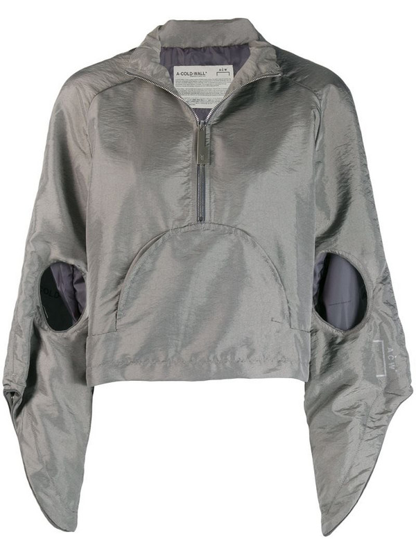 A-COLD-WALL* cut-out hooded anorak in grey