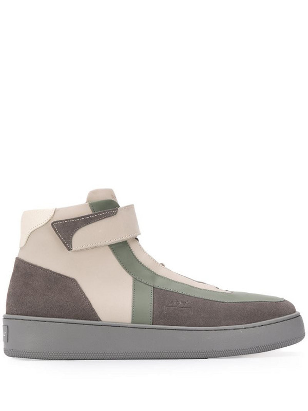 A-COLD-WALL* contrast-panel high-top trainers in grey