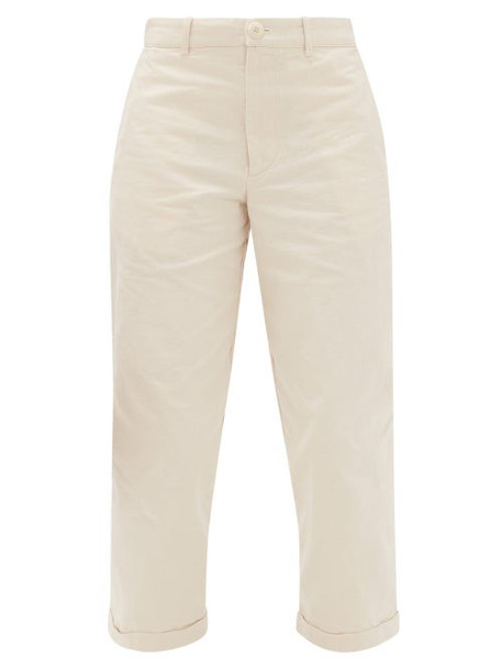 Toogood - The Bricklayer Cotton-canvas Cropped Trousers - Womens - Cream