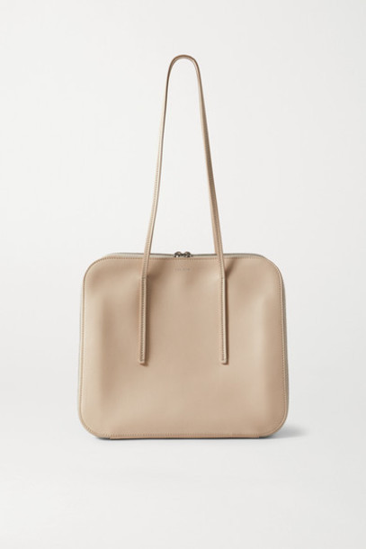 The Row - Tr3 Leather Shoulder Bag - Beige