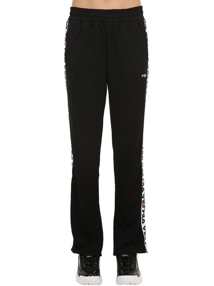 FILA URBAN Thora Track Pants W/ Logo Side Bands in black