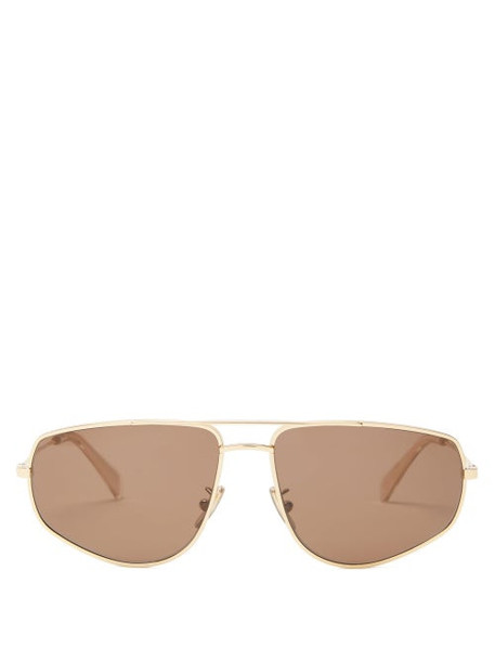 Celine Eyewear - Aviator Metal Sunglasses - Womens - Gold