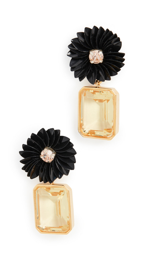 Lizzie Fortunato Citrine Flower Earrings in multi