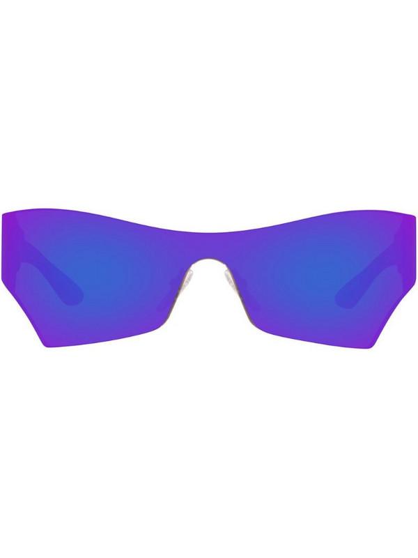 Balenciaga Eyewear BB0040S abstract-frame sunglasses in purple