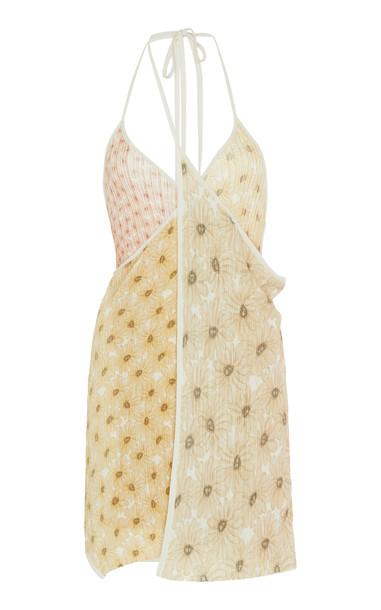 Jacquemus La Robe Boca String Cotton-Blend Mini Dress Size: 36 in print