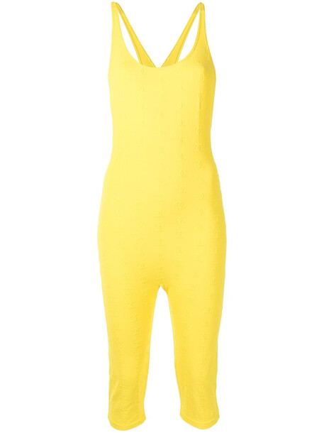 Chanel Pre-Owned 1997 crisscross stretch playsuit - Yellow