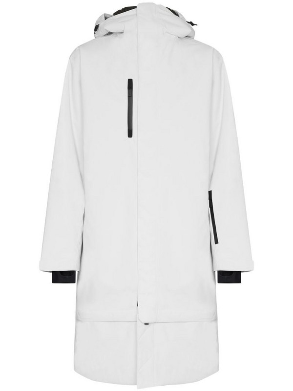 Templa Anton detachable hem ski jacket in white